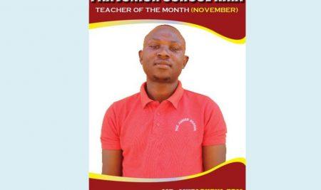 Teacher of the month November 2018