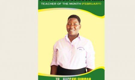Teacher of the month February 2019