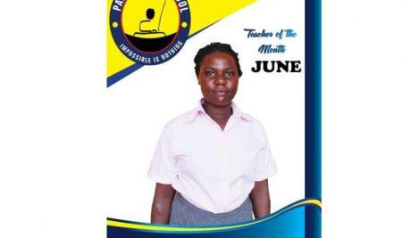 Teacher of the month June 2019